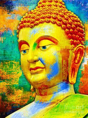 Buddha Rainbow Art Print by Khalil Houri