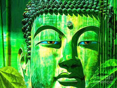 Buddha Rainforest Art Print by Khalil Houri
