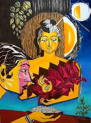 Etc. Painting - Buddha by Ram Prakash