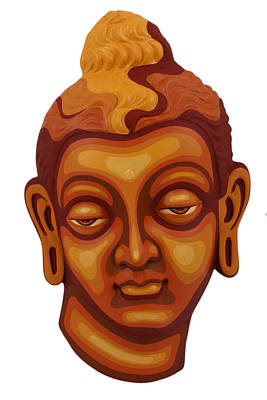 Painting - Buddha - Relief-1 by Arttantra