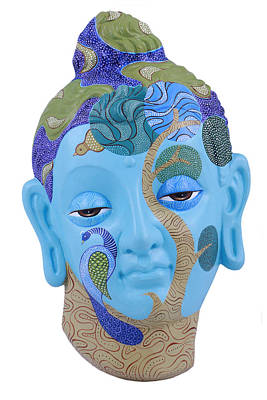 Painting - Buddha - Relief-6 by Arttantra