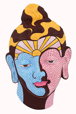 Painting - Buddha - Relief-9 by Arttantra