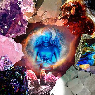 Blue Labradorite Digital Art - Buddha Rocks by Olivia Tatara