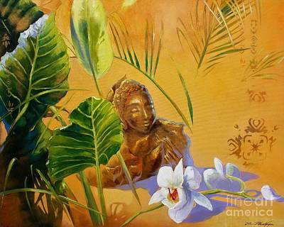 Painting - Buddha Sculp by Lin Petershagen