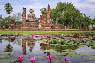 Buddha Statue At Wat Mahathat In Sukhothai  Art Print