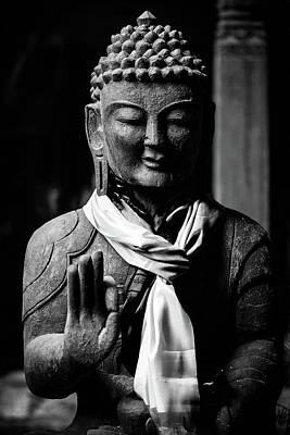 Photograph - Buddha Statue In Black And White by Dutourdumonde Photography