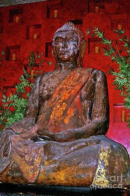 Buddha Statue  Print by Mariola Bitner
