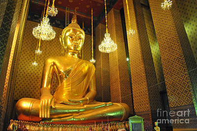 Buddha Statue Art Print by Somchai Suppalertporn