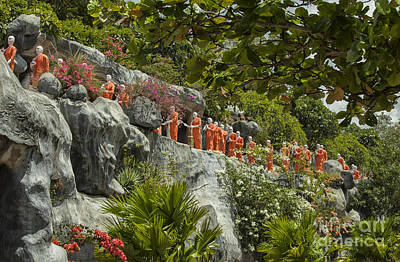 Photograph - Buddha Statues In Dambula by Patricia Hofmeester