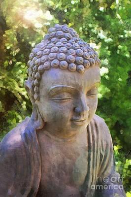 Digital Art - Buddha The Enlightened Teacher 2015 by Kathryn Strick