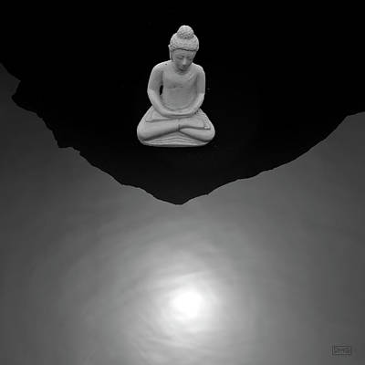 Buddha V  Bw Art Print by David Gordon