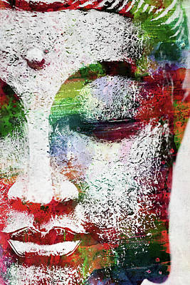 Digital Art - Buddha Watercolor by Mihaela Pater