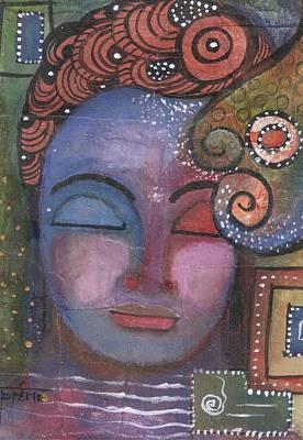 Mixed Media - Buddha With Doodles  by Prerna Poojara