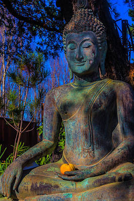 Buddha With Offering  Art Print by Garry Gay
