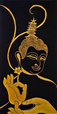 Mixed Media - Buddha Xix by Kruti Shah