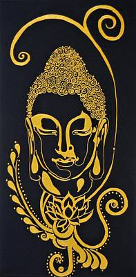Mixed Media - Buddha Xviii by Kruti Shah
