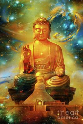 Mixed Media - Buddha Eternity Zen Art by Olga Hamilton