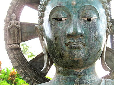 Wall Art - Photograph - Buddha's Face by Lucy Moorman