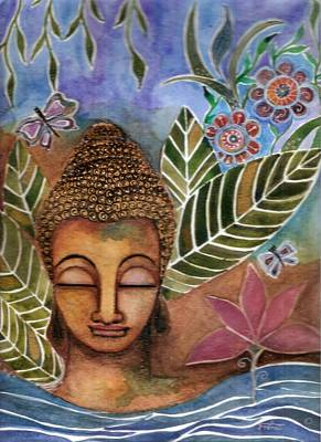 Mixed Media - Buddha's Garden  by Prerna Poojara