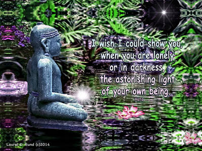 Digital Art - Buddha's Light by Laurel D Rund