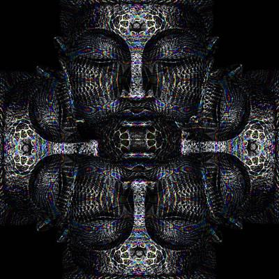 Buddhas Psylence Art Print by Shiva Designz