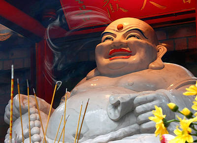 Photograph - Buddha's Smile by Barbara  White