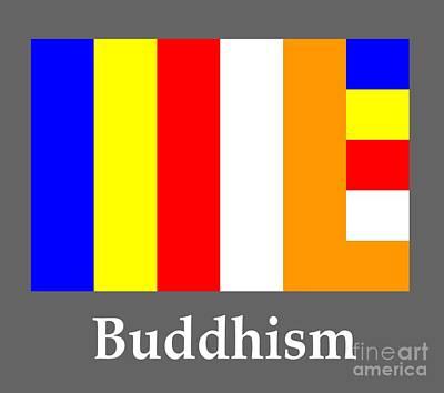 Buddhism Flag And Name Original