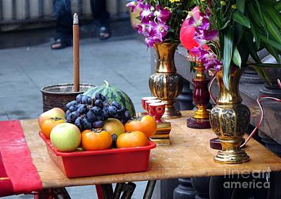 Photograph - Buddhist Altar Table by Yali Shi