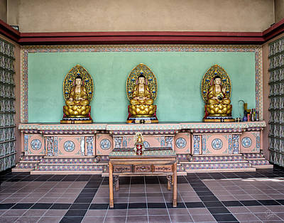 Photograph - Buddhist Cemetery Inside by Endre Balogh