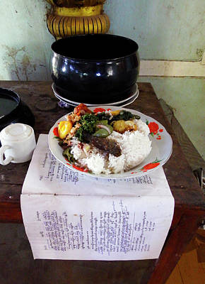 Photograph - Buddhist Food Offering by Kurt Van Wagner