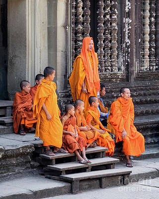 Photograph - Buddhist Monks 05 by Rick Piper Photography