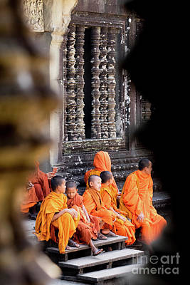 Photograph - Buddhist Monks 06 by Rick Piper Photography
