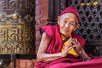 Photograph - Buddhist Nun by Nila Newsom