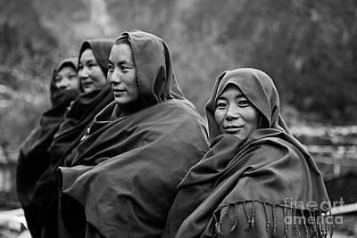 Photograph - Buddhist Nuns - Nupri Nepal by Craig Lovell