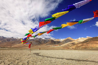 Photograph - Buddhist Prayer Flags by Alexey Stiop