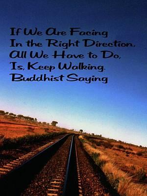 Popular Rustic Neutral Tones - Buddhist Proverb by Gary Wonning