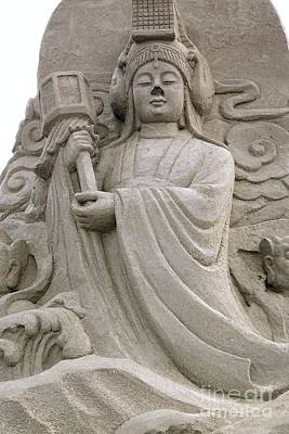 Photograph - Buddhist Sculpture Made From Sand by Yali Shi