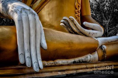 Buddhist Statue Print by Adrian Evans