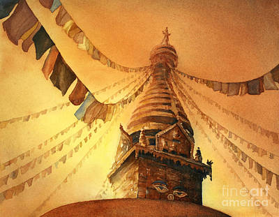 Buddhist Stupa- Nepal Art Print by Ryan Fox