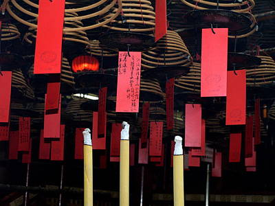 Photograph - Buddhist Temple Ladder Street 2 Hong Kong by Michael Canning