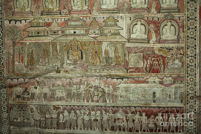 Photograph - Buddhist Wall Murals In Dambulla by Patricia Hofmeester