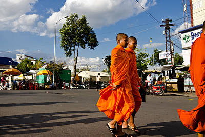 Photograph - Buddhists by Alex Leonard