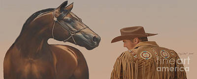 Cattle Drive Painting - Buddies by Corey Ford