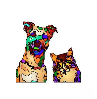 Digital Art - Buddies For Life. Pet Series by Rafael Salazar