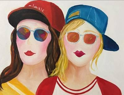 Tomboy Painting - Buddies by Jenny Be