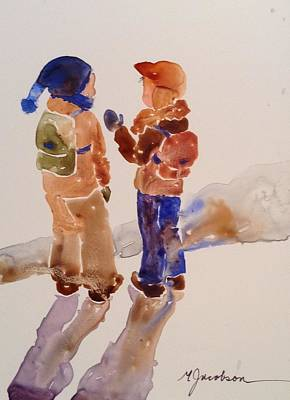 Painting - Buddies by Marilyn Jacobson