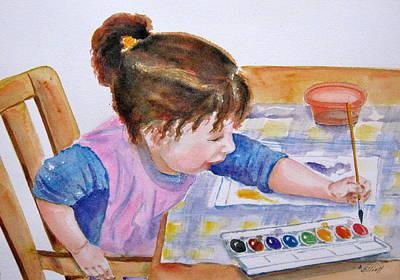 Granddaughter Painting - Budding Artist by Marsha Elliott