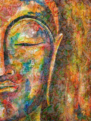 Digital Art - Budding Buddha by Theresa Marie Johnson