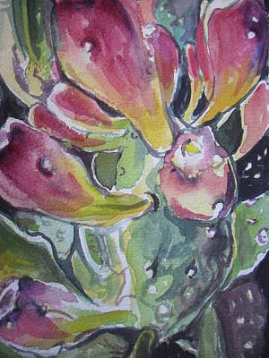 Painting - Budding Cactus In Spring IIi by Aleksandra Buha