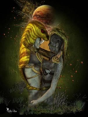 Digital Art - Budding Romance #4 by Ali Oppy